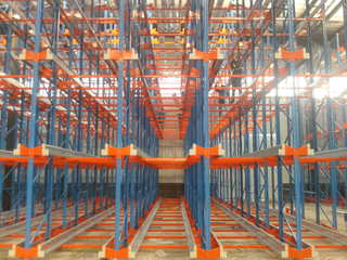 Automated Warehouse Storage Radio Shuttle Racking System for Cold Storage